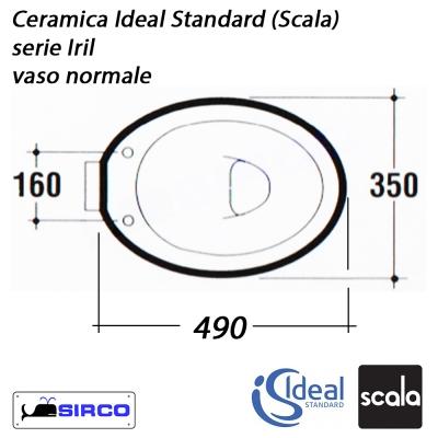 Scala Ceramica Ideal Standard.Serie Iril Scala Scheda Tecnica Varianti Scala Iril Sirco