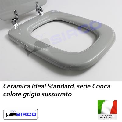 Sedile conca grigio sussurrato varianti ideal standard for Ideal standard conca
