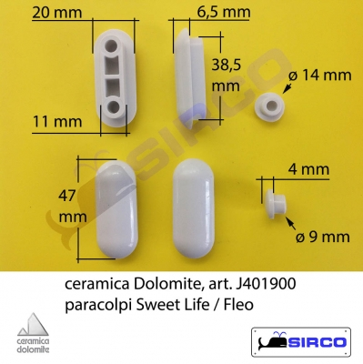 Gommini Per Sedile Wc.Garda J100500 Paracolpi Originali Varianti Dolomite Paracolpi Sirco