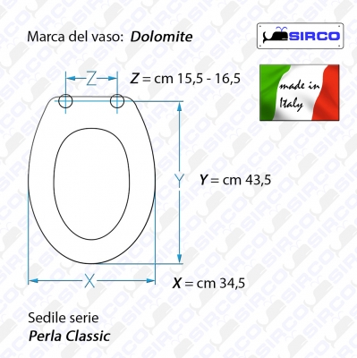 Ceramica Dolomite Serie Perla.Serie Perla Classic Scheda Tecnica Varianti Dolomite Perla
