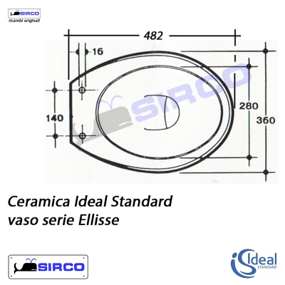 Serie ellisse scheda tecnica varianti ideal standard for Copriwater ellisse ideal standard