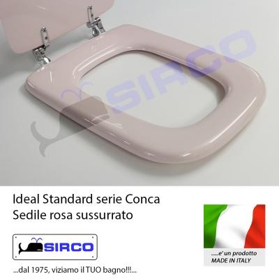 Sedile conca rosa sussurrato varianti ideal standard conca for Ideal standard conca scheda tecnica