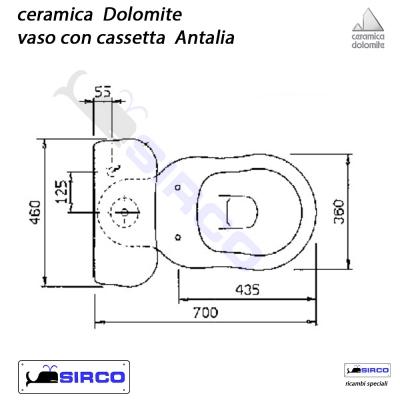 Ceramica Dolomite Schede Tecniche.Serie Antalia Scheda Tecnica Varianti Dolomite Antalia Sirco Sas