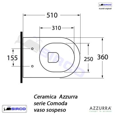 Azzurra Ceramica Schede Tecniche.Serie Comoda Scheda Tecnica Varianti Azzurra Comoda Sirco Sas Arredo