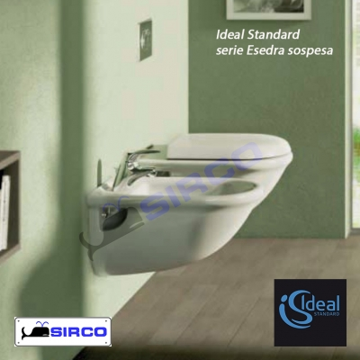 Sedile esedra bianco originale varianti ideal standard for Serie esedra ideal standard