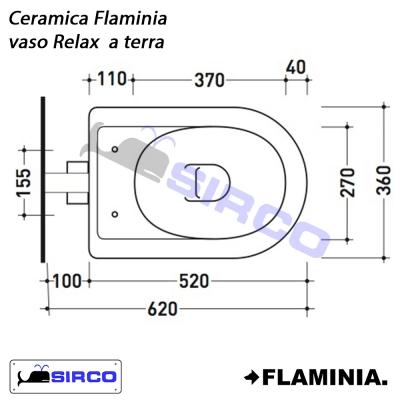 Ceramica Flaminia Schede Tecniche.Serie Relax Scheda Tecnica Varianti Flaminia Relax Sirco Sas
