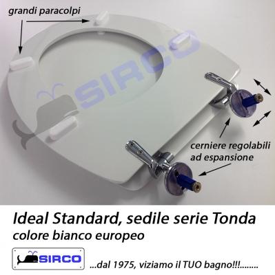 Sedile Wc Ideal Standard Serie Tonda.Sedile Tonda Bianco Varianti Ideal Standard Tonda Sirco Sas Arredo Bagno Biella Piemonte