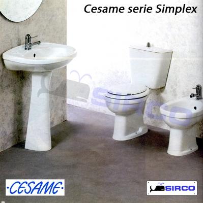 sedile SIMPLEX bianco ORIGINALE VARIANTI Cesame Simplex Sirco sas ...