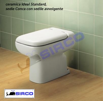 Conca cerniere sedile avvolgente originale varianti ideal for Copriwater conca ideal standard originale