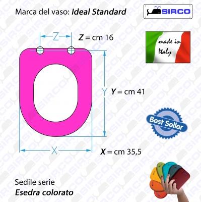 Sedile esedra tutti i colori varianti ideal standard for Serie esedra ideal standard