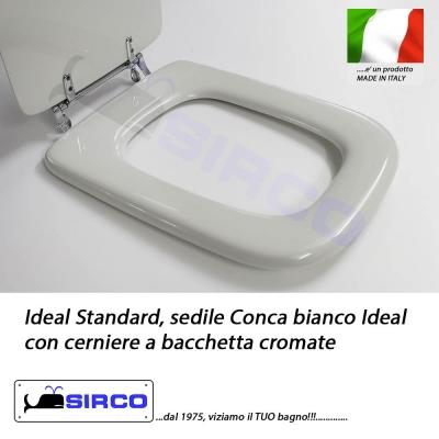 Sedile conca cerniere a bacchetta bianco varianti ideal for Lavandino ideal standard conca