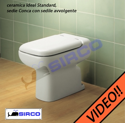 Sedile Water Ideal Standard Modello Conca.Sedile Conca Originale Bianco Avvolgente Varianti Ideal Standard Conca Bianco Sirco Sas Arredo Bagno Biella Piemonte