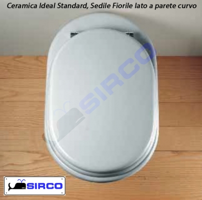 Modello fiorile lato curvo sedili per wc ideal standard for Modelli water ideal standard