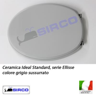 Sedile ellisse grigio sussurrato varianti ideal standard for Ellisse ideal standard