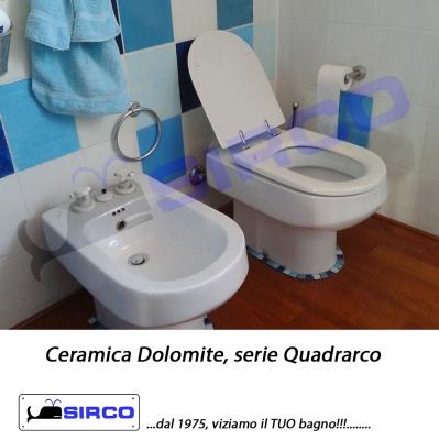 Dolomite serie quadrarco bianco varianti dolomite for Sanitari bagno dolomite