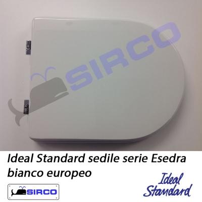 Sedile esedra bianco varianti ideal standard esedra sirco for Sedile wc ideal standard esedra