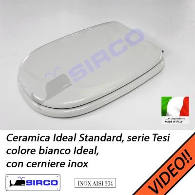 Sedile Tesi Ideal Standard Bianco Europa.Sedile Tesi Bianco Cerniere Inox Varianti Ideal Standard Tesi Sirco Sas Arredo Bagno Biella Piemonte