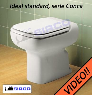 Sedile conca bianco varianti ideal standard conca sirco for Ideal standard conca scheda tecnica