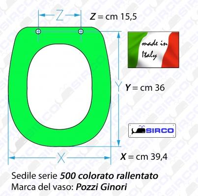 Sedile 500 Colorato Rallentato Varianti Pozzi Ginori Cinquecento Sirco Sas Arredo Bagno Biella Piemonte