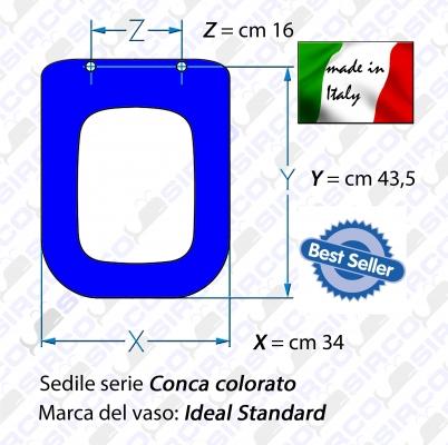 Sedile conca colorato varianti ideal standard conca sirco for Ideal standard conca visone