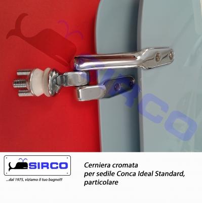 Conca cerniere per sedile poliestere varianti ideal for Copriwater conca ideal standard originale