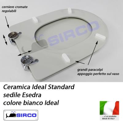 Sedile esedra bianco varianti ideal standard esedra sirco for Serie esedra ideal standard