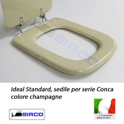 Sedile conca champagne varianti ideal standard conca sirco for Serie conca ideal standard