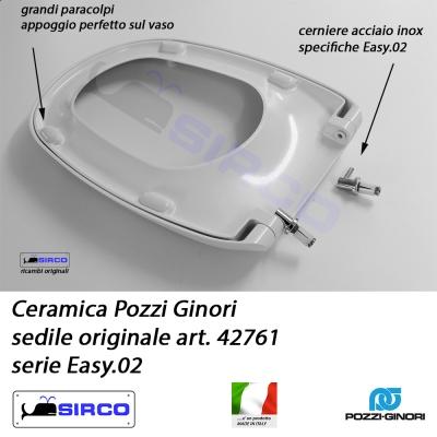 Sedile Pozzi Ginori Easy 02.Sedile Easy 02 Bianco Originale Art 42761 Varianti Pozzi Ginori Easy Sirco Sas Arredo Bagno Biella Piemonte
