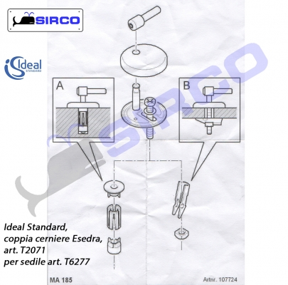 Esedra cerniere per sedile originale varianti ideal for Copriwater ideal standard esedra