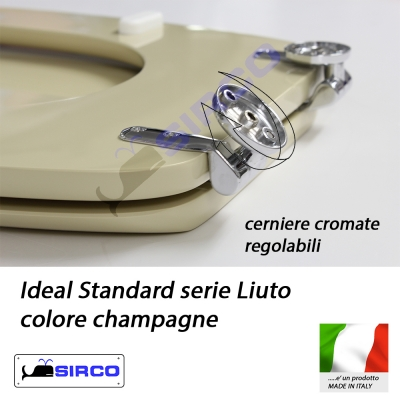 Sedile liuto champagne varianti ideal standard liuto sirco for Ideal standard liuto