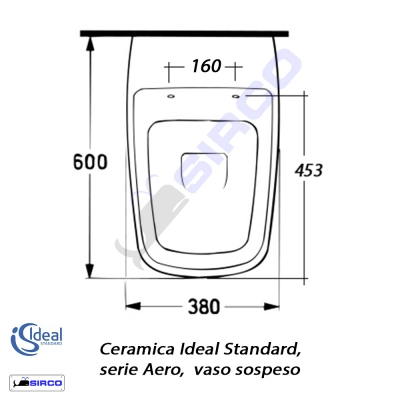 Serie aero scheda tecnica varianti ideal standard aero for Ideal standard conca scheda tecnica
