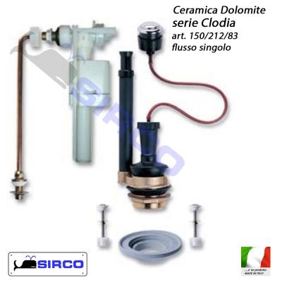 Clodia batteria cassetta flusso singolo varianti dolomite for Dolomite serie clodia