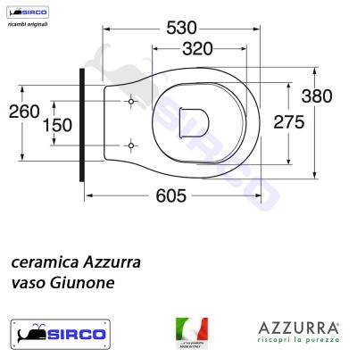 Azzurra Ceramica Schede Tecniche.Serie Giunone Scheda Tecnica Varianti Azzurra Giunone Sirco Sas