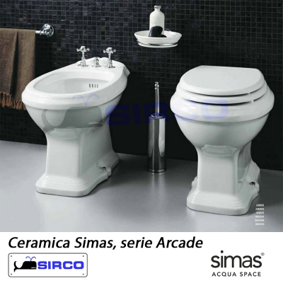Modello arcade old england sedili per wc tutte le marche per vaso simas sirco sas arredo bagno - Sanitari bagno old england ...