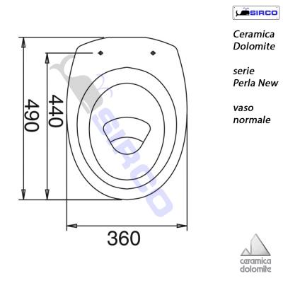 Sedile Wc Dolomite Perla.Serie Perla New Scheda Tecnica Varianti Dolomite Perla New Sirco Sas Arredo Bagno Biella Piemonte