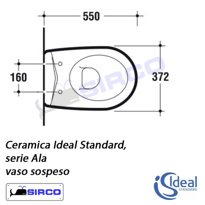 Serie ala scheda tecnica varianti ideal standard ala sirco for Calla ideal standard scheda tecnica