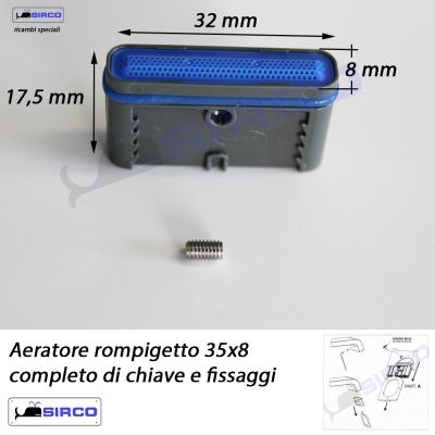 35x8 aeratore rompigetto quadro varianti aeratori - Aeratore per bagno ...
