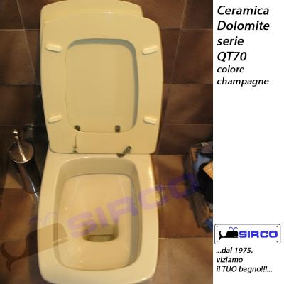 Dolomite serie qt70 2 pz champagne varianti dolomite for Sanitari bagno dolomite
