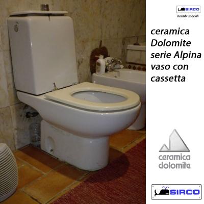 Ceramica Dolomite Serie Alpina.Dolomite Serie Alpina Vaso C Cassetta Bianco Varianti