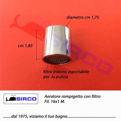 16x1 aeratore rompigetto con filtro ar5504q51 varianti aeratori rompigetto con filtro sirco sas - Aeratore per bagno ...