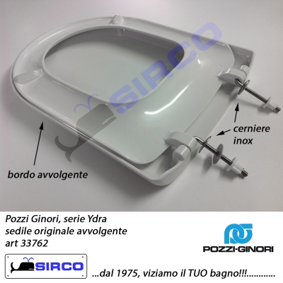 Sedile Wc Pozzi Ginori Ydra.Sedile Ydra Bianco Originale Varianti Pozzi Ginori Ydra Sirco Sas Arredo Bagno Biella Piemonte