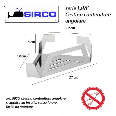 5920 cestino contenitore angolare varianti lavi 39 sirco sas for Arredo bagno biella
