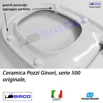 Sedile Pozzi Ginori Serie 500.Sedile 500 Originale Bianco Termoindurente Varianti Pozzi Ginori Cinquecento Sirco Sas Arredo Bagno Biella Piemonte