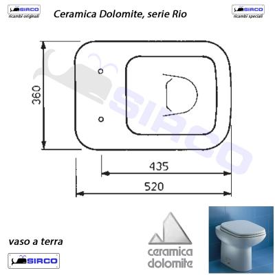 Serie Rio Scheda Tecnica Varianti Dolomite Rio Sirco Sas Arredo Bagno Biella Piemonte