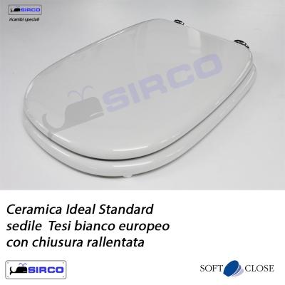 Sedile Tesi Ideal Standard Bianco Europa.Sedile Tesi Bianco Con Chiusura Rallentata Varianti Ideal
