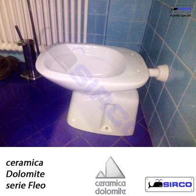 Ceramica Dolomite Serie Fleo.Dolomite Serie Qt70 2 Pz Color Castoro Varianti Dolomite