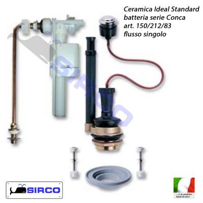 Conca batteria per cassetta flusso singolo varianti ideal for Conca ideal standard