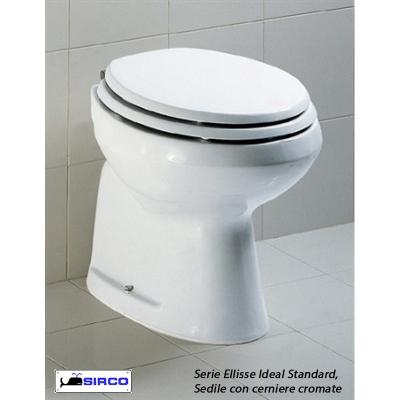 Sedile ellisse bianco cerniere oro varianti ideal standard for Copriwater ellisse ideal standard