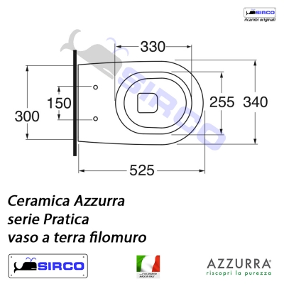 Azzurra Ceramica Schede Tecniche.Serie Pratica Scheda Tecnica Varianti Azzurra Pratica Sirco Sas