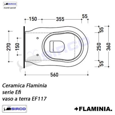 Ceramica Flaminia Schede Tecniche.Serie Efi Scheda Tecnica Varianti Flaminia Efi Sirco Sas